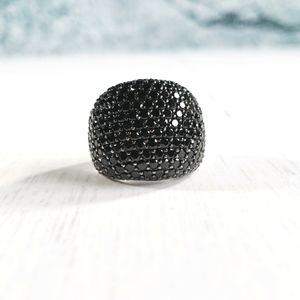 (📽) Black Spinel Sterling Silver Ring